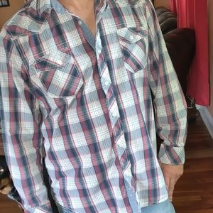 📚 American Rag Western Country Style Button Shirt